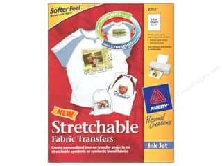 Printing Art Accessories: Avery Fabric Transfers for Inkjet Printers 8 1/2 x 11 in. Stretchable 5 pc.