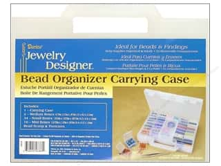 Tweezers: Darice Jewelry Designer Bead Storage System Carrying Case 55 pc