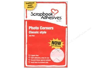photo corners decorative: 3L Scrapbook Adhesives Photo Corners Paper Pink