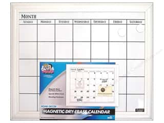 Erasers Dry Erase Boards: The Board Dudes Dry Erase Calendar 22 x18 in. White