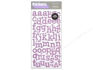clearance American Crafts Thickers Stickers: American Crafts Thickers Alphabet Stickers Sprinkles Glitter Lavender