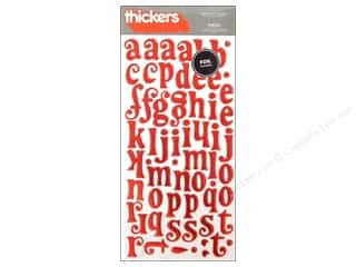 clearance American Crafts Thickers Stickers: American Crafts Thickers Alphabet Stickers Tinsel Cherry