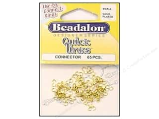 chain nose pliers: Beadalon Quick Links Connectors Small Gold 65 pc.