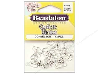 Beading & Jewelry Making Supplies: Beadalon Connectors Quick Links Lg Silver 42pc