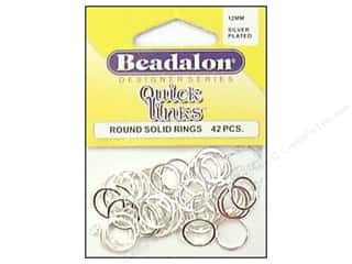 Beadalon Jump Rings/Spring Rings: Beadalon Quick Links Round 12 mm Silver Plated 42 pc.