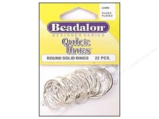 Beadalon QL Round 20mm Silver Plated 22pc
