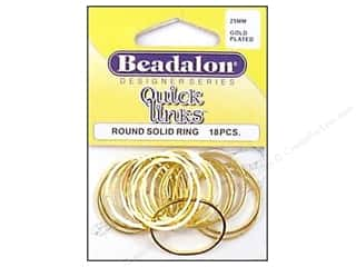 Jump Rings / Spring Rings: Beadalon Quick Links Round 25 mm Gold Plated 18 pc.