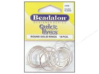 Beadalon Jump Rings/Spring Rings: Beadalon Quick Links Round 25 mm Silver Plated 18 pc.