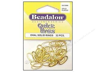 Beadalon Jump Rings/Spring Rings: Beadalon Quick Links Oval 8 x 15 mm Gold Plated 32 pc.