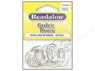 Jump Rings / Spring Rings: Beadalon Quick Links Oval 18 x 25 mm Silver Plated 22 pc.
