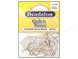 Beadalon QL Diamond 13x23mm Silver Plated 35pc