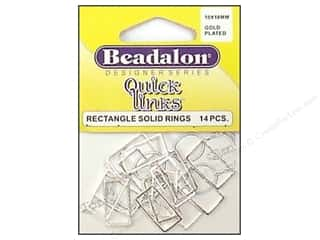 Beadalon QL Rectangle 10x18mm Silver Plated 14pc