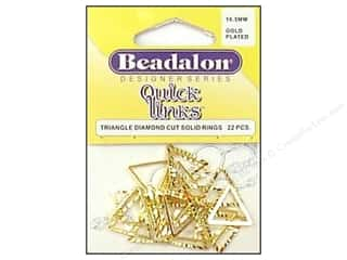 Spring $5 - $10: Beadalon Quick Links Triangle Cut Round 16.5 mm Gold 22 pc.