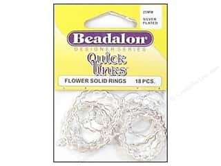 Beadalon Jump Rings/Spring Rings: Beadalon Quick Links Flower 25 mm Silver Plated 18 pc.