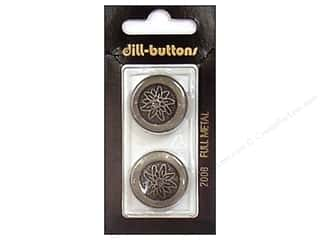 Metal & Tin Black: Dill Shank Buttons 7/8 in. Metal Antique Tin #2008 2pc.