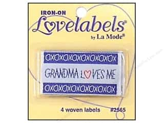 Sewing & Quilting Family: Blumenthal Iron-On Lovelabels 4 pc. Grandma Loves Me