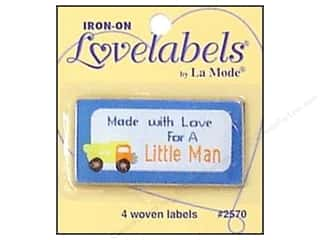 Brothers inches: Blumenthal Iron-On Lovelabels 4 pc. Made With Love For A Little Man