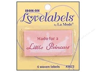 Love & Romance Blumenthal Iron-On Lovelabels: Blumenthal Iron-On Lovelabels 4 pc. Made For A Little Princess