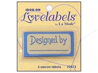 Blumenthal: Blumenthal Iron-On Lovelabels 4 pc. Designed By Blue