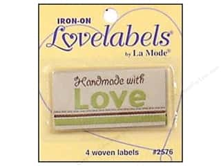 Blumenthal Brown: Blumenthal Iron-On Lovelabels 4 pc. Handmade With Love Natural