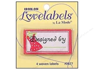 Blumenthal: Blumenthal Iron-On Lovelabels 4 pc. Designed By Pink