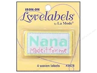 Love & Romance Blumenthal Iron-On Lovelabels: Blumenthal Iron-On Lovelabels 4 pc. Nana Made It For Me