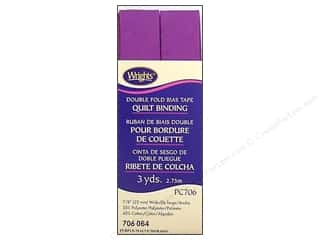 Tapes Wrights Double Fold Quilt Binding: Wrights Double Fold Quilt Binding 3 yd. Purple