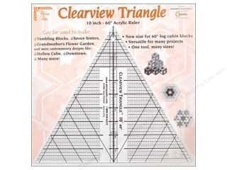 Quilting Rulers: Clearview Triangle Rulers Tool 10""