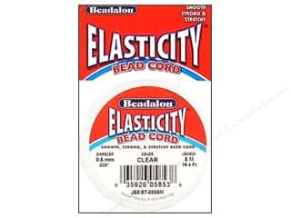 Chains Beadalon Elasticity Bead Cord: Beadalon Elasticity Bead Cord 0.5 mm Clear 16.4 ft.