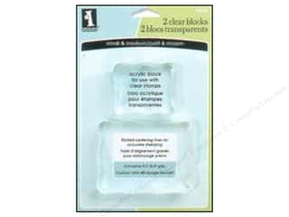 Rubber Stamping Clear: Inkadinkado Clear Stamp Blocks Small & Medium