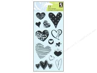 Inkadinkado Clear Stamp Hearts