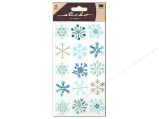 EK Sticko Stickers Blue Snowflakes