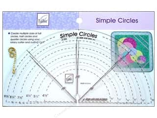 June Tailor Ruler Simple Circles 6pc