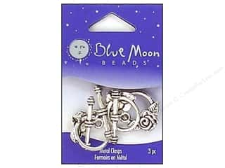 Blue Moon Beads: Blue Moon Beads Large Toggle Clasps with Rose 3 pc. Silver Plated