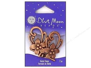 Blue Moon Beads: Blue Moon Beads Toggle Clasps with Flower 2 pc. Copper