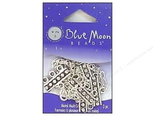 Beading & Jewelry Making Supplies Blue: Blue Moon Beads Small Adjustable 3-Strand Clasps 3 pc. Silver Plated