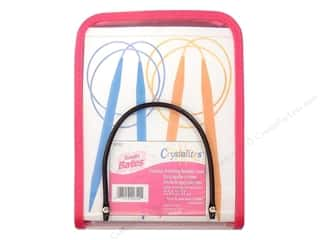 Bates knitting needle: Bates Crystalites Case Circular Knitting Needle