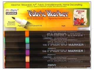 Clearance Blumenthal Favorite Findings: Uchida Fabric Marker Fine Point Set 6pc Pastel