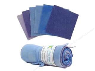 Needle Threaders Fabric Painting & Dying: Tracy Trevethan Hand Dyed 100% Wool Light Blue Assorted