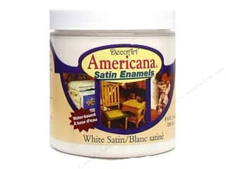 DecoArt Americana Satin Enamel 8oz White Satin