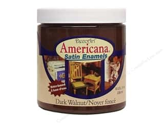 enamel paint: DecoArt Americana Satin Enamel 8oz Dark Walnut