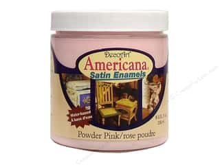 Outdoors New: DecoArt Americana Satin Enamel Paint 8oz Powder Pink