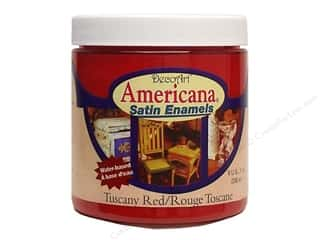 New Americana: DecoArt Americana Satin Enamel Paint 8oz Tuscany Red