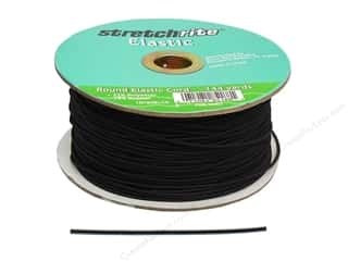Cording: Stretchrite Elastic Cord Round 1/16 in. x 144 yd Black (144 yards)