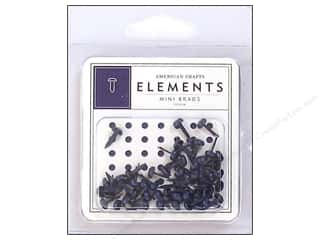American Crafts Elements Brads Mini Denim 50pc