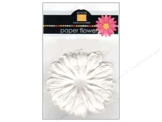 Bazzill Flowers Paper 3&quot; Gerbera White 6pc