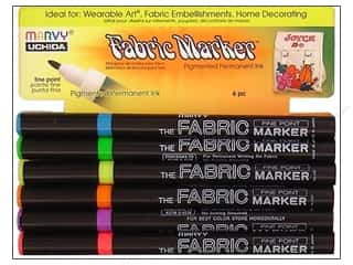 Uchida: Uchida Fabric Marker Fine Point Set 6pc Fluorescnt