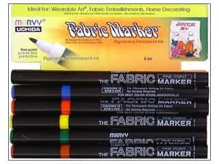 Clearance Blumenthal Favorite Findings: Uchida Fabric Marker Fine Point Set 6pc Primary