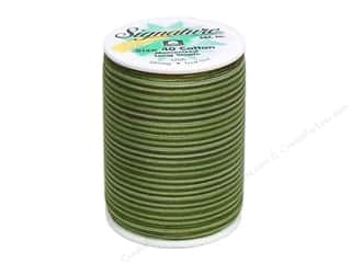 Signature Thread Signature 100% Cotton Quilting Thread 500yd Var: Signature 100% Cotton Thread 500 yd. #M85 Variegated Grassy Greens