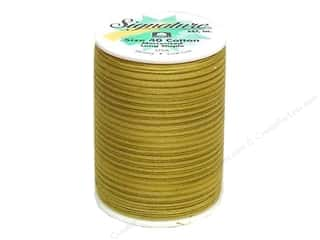 Signature Thread Signature 100% Cotton Quilting Thread 500yd Var: Signature 100% Cotton Thread 500 yd. #M91 Variegated Antique Gold